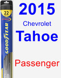 Passenger Wiper Blade for 2015 Chevrolet Tahoe - Hybrid