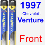 Front Wiper Blade Pack for 1997 Chevrolet Venture - Hybrid
