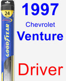 Driver Wiper Blade for 1997 Chevrolet Venture - Hybrid