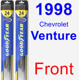 Front Wiper Blade Pack for 1998 Chevrolet Venture - Hybrid