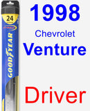 Driver Wiper Blade for 1998 Chevrolet Venture - Hybrid