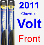 Front Wiper Blade Pack for 2011 Chevrolet Volt - Hybrid
