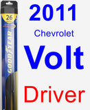 Driver Wiper Blade for 2011 Chevrolet Volt - Hybrid