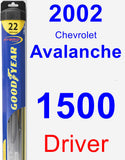 Driver Wiper Blade for 2002 Chevrolet Avalanche 1500 - Hybrid