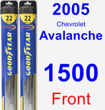 Front Wiper Blade Pack for 2005 Chevrolet Avalanche 1500 - Hybrid