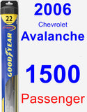 Passenger Wiper Blade for 2006 Chevrolet Avalanche 1500 - Hybrid