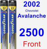 Front Wiper Blade Pack for 2002 Chevrolet Avalanche 2500 - Hybrid