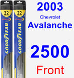 Front Wiper Blade Pack for 2003 Chevrolet Avalanche 2500 - Hybrid