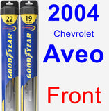 Front Wiper Blade Pack for 2004 Chevrolet Aveo - Hybrid