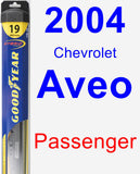 Passenger Wiper Blade for 2004 Chevrolet Aveo - Hybrid