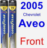 Front Wiper Blade Pack for 2005 Chevrolet Aveo - Hybrid