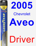 Driver Wiper Blade for 2005 Chevrolet Aveo - Hybrid