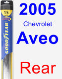 Rear Wiper Blade for 2005 Chevrolet Aveo - Hybrid