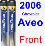 Front Wiper Blade Pack for 2006 Chevrolet Aveo - Hybrid
