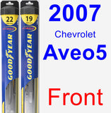 Front Wiper Blade Pack for 2007 Chevrolet Aveo5 - Hybrid