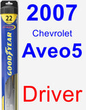 Driver Wiper Blade for 2007 Chevrolet Aveo5 - Hybrid
