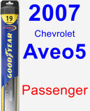 Passenger Wiper Blade for 2007 Chevrolet Aveo5 - Hybrid