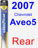 Rear Wiper Blade for 2007 Chevrolet Aveo5 - Hybrid