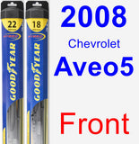 Front Wiper Blade Pack for 2008 Chevrolet Aveo5 - Hybrid
