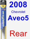 Rear Wiper Blade for 2008 Chevrolet Aveo5 - Hybrid