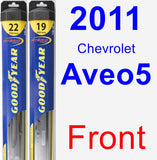 Front Wiper Blade Pack for 2011 Chevrolet Aveo5 - Hybrid