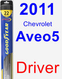 Driver Wiper Blade for 2011 Chevrolet Aveo5 - Hybrid