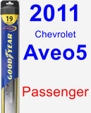 Passenger Wiper Blade for 2011 Chevrolet Aveo5 - Hybrid