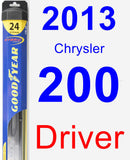 Driver Wiper Blade for 2013 Chrysler 200 - Hybrid