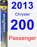 Passenger Wiper Blade for 2013 Chrysler 200 - Hybrid