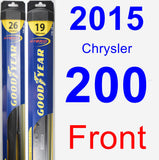 Front Wiper Blade Pack for 2015 Chrysler 200 - Hybrid