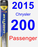 Passenger Wiper Blade for 2015 Chrysler 200 - Hybrid