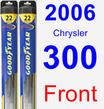 Front Wiper Blade Pack for 2006 Chrysler 300 - Hybrid