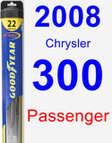 Passenger Wiper Blade for 2008 Chrysler 300 - Hybrid