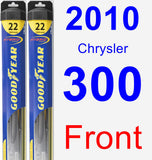 Front Wiper Blade Pack for 2010 Chrysler 300 - Hybrid