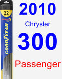 Passenger Wiper Blade for 2010 Chrysler 300 - Hybrid