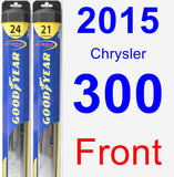 Front Wiper Blade Pack for 2015 Chrysler 300 - Hybrid
