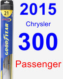 Passenger Wiper Blade for 2015 Chrysler 300 - Hybrid