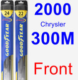 Front Wiper Blade Pack for 2000 Chrysler 300M - Hybrid