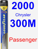 Passenger Wiper Blade for 2000 Chrysler 300M - Hybrid