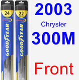 Front Wiper Blade Pack for 2003 Chrysler 300M - Hybrid