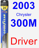 Driver Wiper Blade for 2003 Chrysler 300M - Hybrid