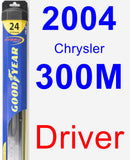 Driver Wiper Blade for 2004 Chrysler 300M - Hybrid
