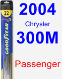 Passenger Wiper Blade for 2004 Chrysler 300M - Hybrid