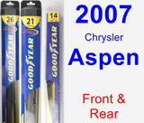 Front & Rear Wiper Blade Pack for 2007 Chrysler Aspen - Hybrid