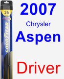 Driver Wiper Blade for 2007 Chrysler Aspen - Hybrid