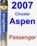 Passenger Wiper Blade for 2007 Chrysler Aspen - Hybrid