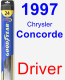 Driver Wiper Blade for 1997 Chrysler Concorde - Hybrid