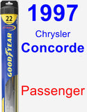 Passenger Wiper Blade for 1997 Chrysler Concorde - Hybrid