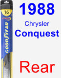 Rear Wiper Blade for 1988 Chrysler Conquest - Hybrid