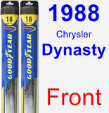 Front Wiper Blade Pack for 1988 Chrysler Dynasty - Hybrid